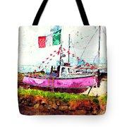 Pink Irish Boat Tote Bag