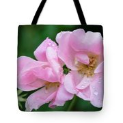 Pink Knockout Rose After The Rain Tote Bag