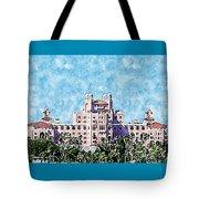 Pink Lady Don Cesar Watercolor Tote Bag