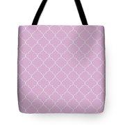 Pink Lavender Quatrefoil Tote Bag