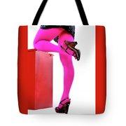 Pink Legs Tote Bag