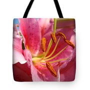 Pink Lilies Art Prints Lily Flowers 3 Giclee Artwork Baslee Troutman  Tote Bag