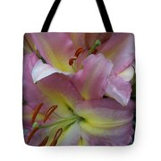 Pink Lillies Tote Bag