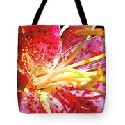 Pink Lilly Tote Bag