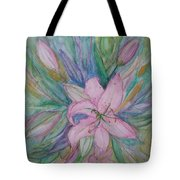 Pink Lily- Painting Tote Bag