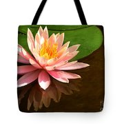 Pink Lily Reflection 4 Tote Bag