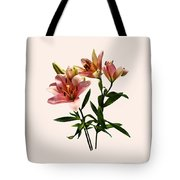 Pink Lily Trio Tote Bag