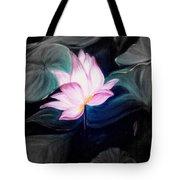 Pink Lotus Tote Bag