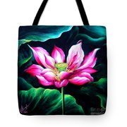 Pink Lotus From L.a. City Park Tote Bag