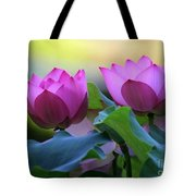 Pink Lotus Tote Bag