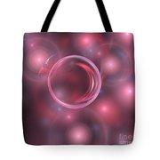 Pink Magma Spheres Tote Bag