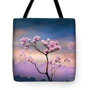Pink Magnolia - Bright Version Tote Bag