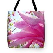 Pink Magnolia Flower Art Print Botanical Tree Baslee Troutman Tote Bag