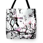 Pink Magnolia - In Black And White  Tote Bag