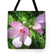 Pink Marsh Mallow Wildflower Tote Bag