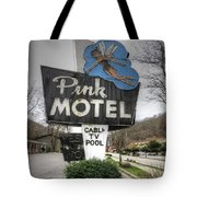 Pink Motel Sign Maggie Valley North Carolina Tote Bag
