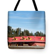 Pink Mountain British Columbia Tote Bag