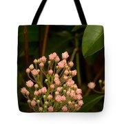 Pink Mountain Laurel Buds Tote Bag