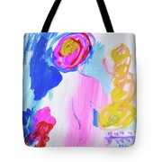 Pink Nude With Headwrap Tote Bag