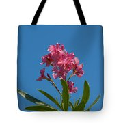 Pink Oleander Flower In Spring Tote Bag