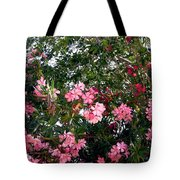 Pink Oleanders Tote Bag