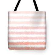 Pink Ombre Ikat Stripe- Art By Linda Woods Tote Bag by Linda Woods