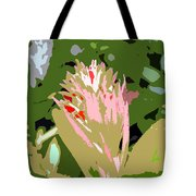 Pink On Green Work Number 6 Tote Bag