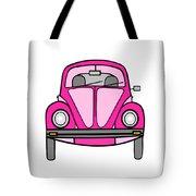 Pink On Wheels Tote Bag