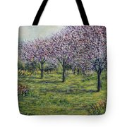 Pink Orchards Garden Tote Bag