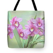 Pink Orchid Photo Sketch Tote Bag