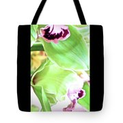 Pink Orchid With Green 1 Tote Bag