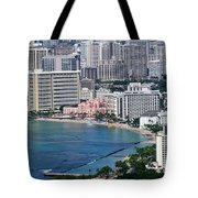 Pink Palace Waikiki Honolulu Tote Bag
