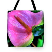 Pink Peace Lily Tote Bag