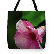 Pink Petals In The Rain Tote Bag