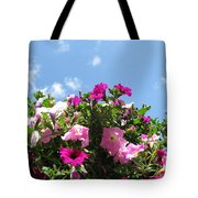 Pink Petunias In The Sky Tote Bag