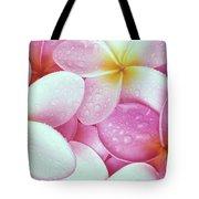Pink Plumeria Tote Bag