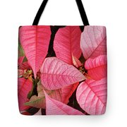 Pink Poinsettias Tote Bag