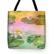 Pink Pond Tote Bag