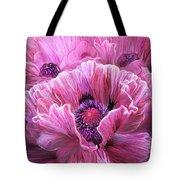 Pink Poppy Splash Tote Bag