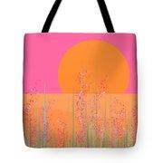 Pink Prairie Flowers Tote Bag