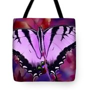 Pink Purple Butterfly Tote Bag
