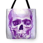 Pink Purple Skull Tote Bag