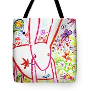 Pink Rabbit Tote Bag