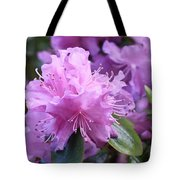 Light Purple Rhododendron With Leaves Tote Bag