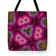 Pink And Gold Eruption Tote Bag