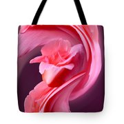 Pink Roas In A Swirl Tote Bag