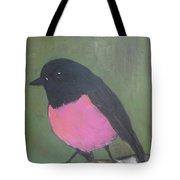 Pink Robin Tote Bag