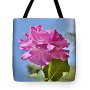 Pink Rose Against Blue Sky I Tote Bag