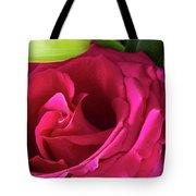 Pink Rose And Bud Close-up Tote Bag