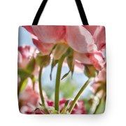 Pink Rose Back Light Tote Bag